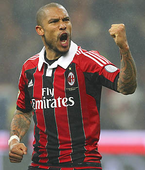 Nigel de Jong came over to AC Milan from Manchester City this year.