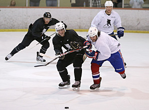 Sidney Crosby (left) has been trying to stay in playing shape while being involved in the CBA talks.