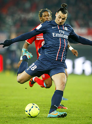 Zlatan Ibrahimovic and Paris Saint-Germain trail only Lyon in the French league.
