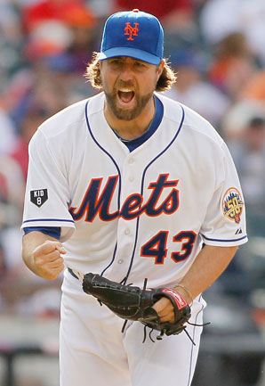 R.A. Dickey went 20-6 with a 2.73 ERA for New York in 2012.