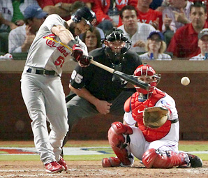 Skip Schumaker is a career .288 hitter over eight seasons, all in St. Louis.