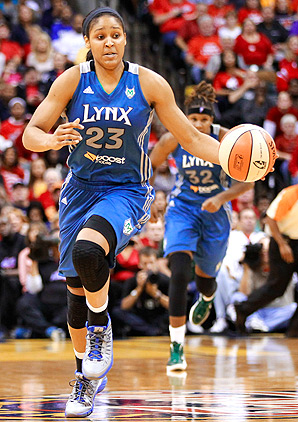 In her first game with the Shanxi Flame, Maya Moore scored 60 points.