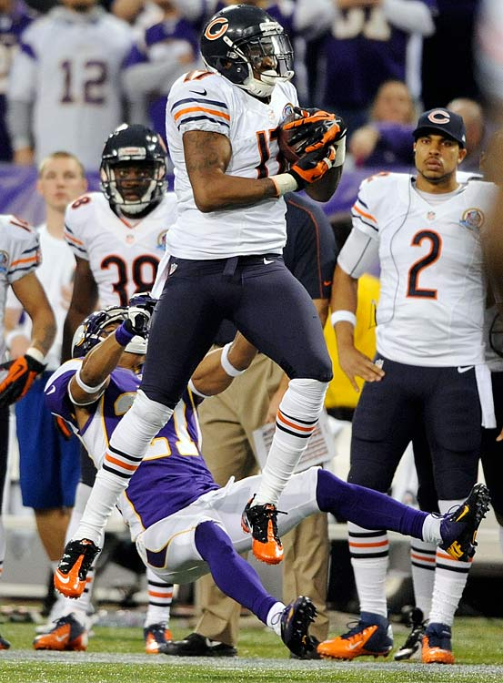Injuries sidetracked what could have been a very productive season, but there's still time for the rookie to show he's the man to start opposite Brandon Marshall next season. Jeffery has a golden opportunity to have an impact against a short-handed Packers defense that allowed 27 receptions to Detroit last week.