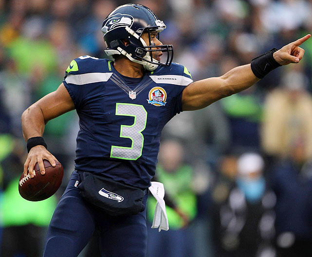In the Seahawks' 58-0 Week 14 de-feathering of the Cardinals, Wilson's personal streak of five consecutive games with at least two touchdown passes ended. Of course, that's because he only attempted 13 passes in the blowout. In what will hopefully be a tighter contest at Ralph Wilson Stadium (no relation) this week, the rookie will get back on track.