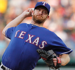 Ryan Dempster pitched for an AL team for the first time in his 15-year career after being traded to Texas last July.