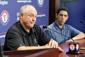 "Asked to assess the Rangers offseason, team president Nolan Ryan responded, ""It hasn't probably gone as we had hoped to this point."""