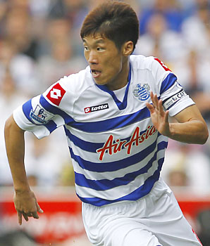 Park Ji-sung came to Queens Park Rangers from Manchester United this year.