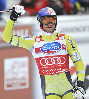 Norwegian Aksel Lund Svindal won the men's super-G World Cup event by a huge margin of 1.07 seconds.