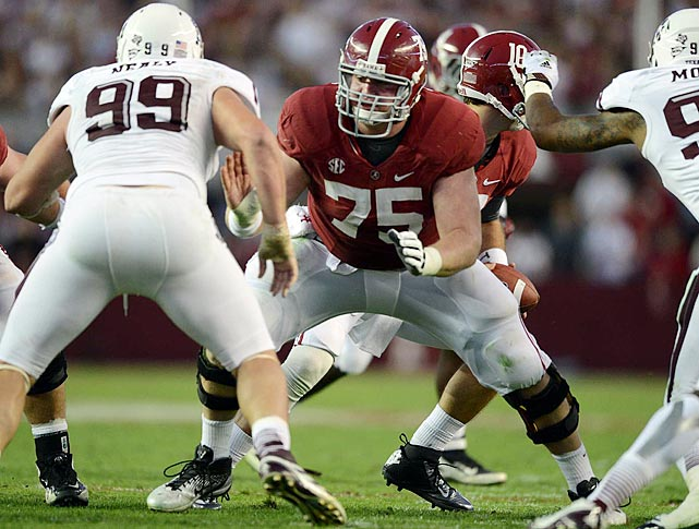 Jones may not be conventionally exciting, but he's a treat for those who like to watch a pulverizing brand of football on the offensive line. He won the Rimington Award as the nation's top center one year after winning the Outland Trophy while playing at left tackle.