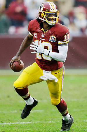Robert Griffin III practiced for the third straight day Friday after he sprained his knee last Sunday.