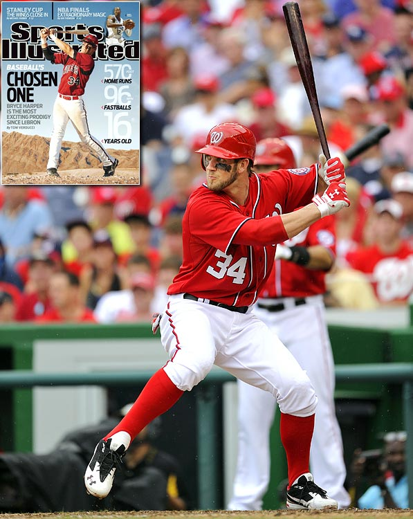 "A 2009 issue of Sports Illustrated dubbed 16-year-old Bryce Harper as ""baseball's Chosen One."" In his first year in the big leagues, Harper has done little to quell the hype. Just 19, he hit 22 home runs and was named the NL Rookie of the Year."