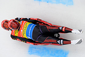 Tobias Wendl and Tobias Arlt clocked the fastest times in both runs to finish with a combined time of 1 minute, 25.104 seconds.