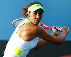 Madison Keys, 17, overcame early nerves and a determined opponent to repeat as winner of the Australian Open Wildcard Playoffs.