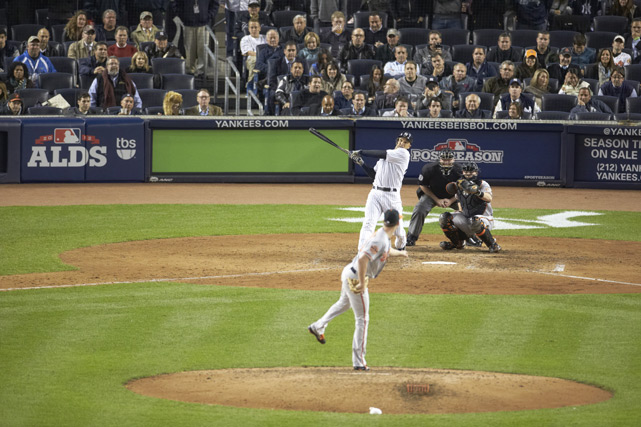 After being two outs away from going down 1-2 in the ALDS, New York took the decisive Game Three against the Orioles, thanks to Raul Ibanez's two home runs: one that tied the game in the ninth and the other that won the game for the Yankees in the twelfth.