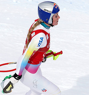 During a frustrating weekend in France, Lindsey Vonn fell in both the downhill and giant slalom events.