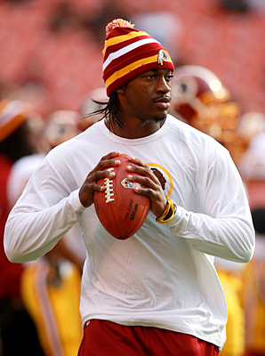 Robert Griffin III did not start for the Redskins against the Browns on Sunday.