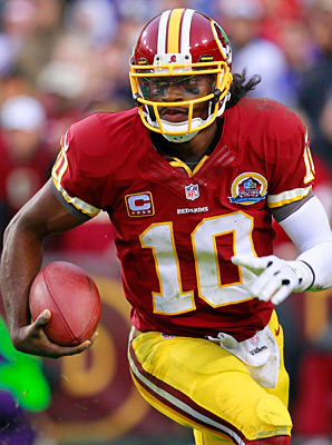 Robert Griffin III beat out the likes of Peyton Manning and Aaron Rodgers in NFL online jersey sales.