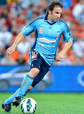 Alessandro Del Piero and Sydney FC are in last place in the A-League.