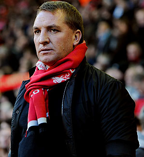 Brendan Rodgers and Liverpool are in 12th place in the Premier League.