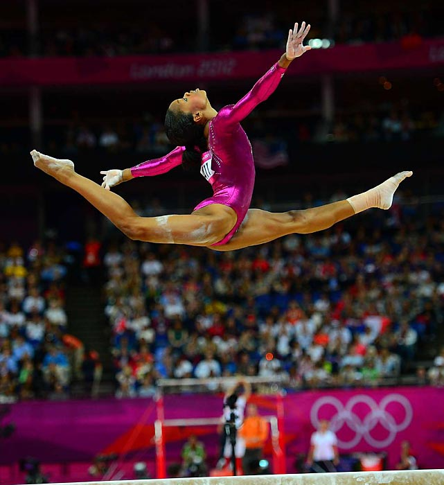 Dazzling from start to finish, Gabby Douglas became the third straight U.S. woman to win the all-around and the first to win that title and a team gold at the same Olympics.