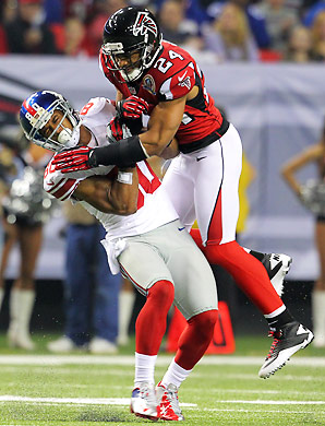 After being held to 15 yards receiving against the Falcons in Week 15, Victor Cruz faces another tough matchup versus the Ravens.