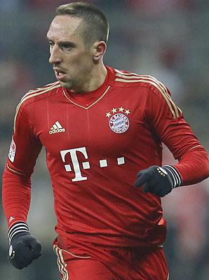 Franck Ribery and Bayern Munich lead the Bundesliga by nine points.