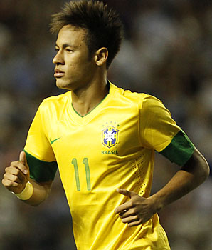 Neymar and Brazil go into the new year with a new coach, Luiz Felipe Scolari.