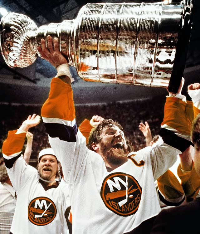 The dawn of the Islander dynasty coincided with beginning of his captaincy before the 1979-80 season during which the team won the first of four successive Stanley Cups. Molded into a leader by coach Al Arbour's barbs and punishments (Potvin once had to skate for two hours after missing the team bus), the bruising and offensively gifted blueliner led the Isles to a record 19 consecutive playoff series wins, a run in which they reached the Cup final five times.