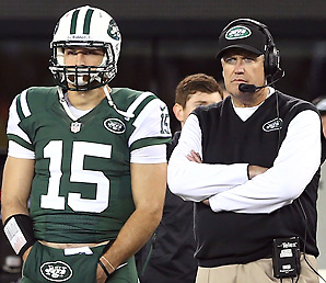 Tim Tebow has gotten just 40 touches (eight pass attempts, 32 rushes) this season with the Jets.