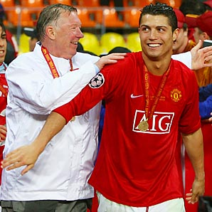 Sir Alex Ferguson and Cristiano Ronaldo were together from 2003-09 at Manchester United.