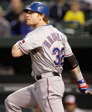 Josh Hamilton became the 16th player to hit four home runs in one game.