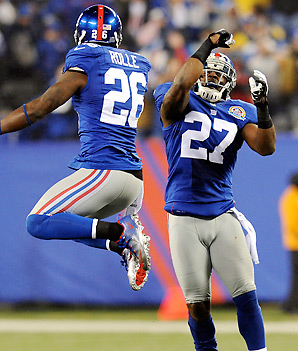 Stevie Brown (27) has been a godsend for a Giants team that needed someone to step up in an injury-depleted secondary.