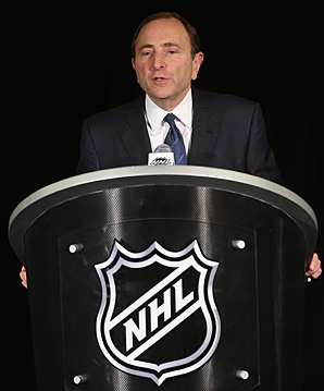 Gary Bettman: Just a man and his podium, which became a star in its own right.