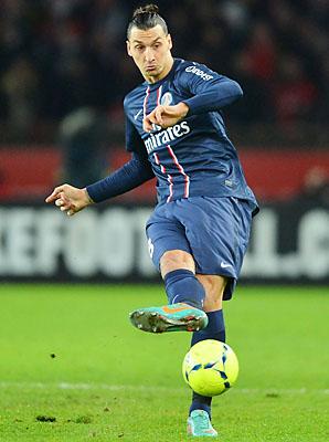Zlatan Ibrahimovic and Paris Saint-Germain lead Ligue 1.