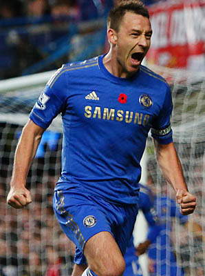John Terry's Chelsea is in third place in the Premier League.