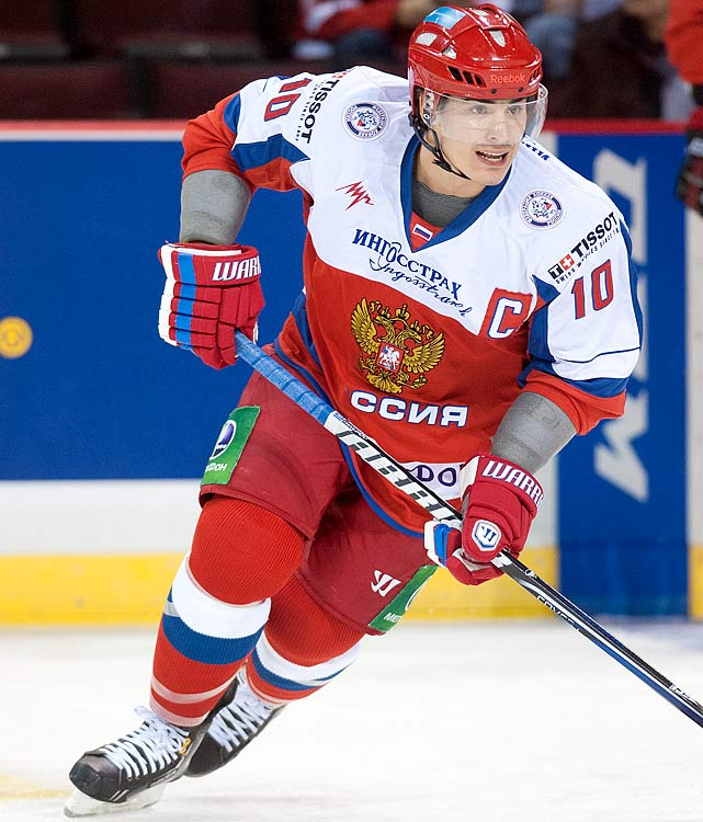 The first overall selection in last summer's NHL draft underwhelmed with a lackadaisical performance in the Subway Super Series, and he hasn't lit the lamp in KHL action since returning to Russia. Cause for concern? Nope. Motivated by last year's loss in the final and the chance to play at home, Yakupov will rediscover what makes him special: dominating with his game-breaking speed and physical play away from the puck.