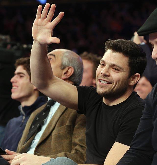 Actor Jerry Ferrara of Entourage made it out to the Knicks-Bulls game at Madison Square Garden.