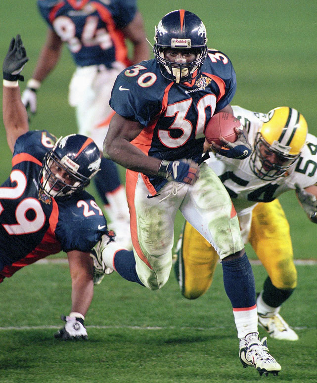 Terrell Davis reached 1,000 yards after seven games, scored 23 touchdowns and was named league MVP.