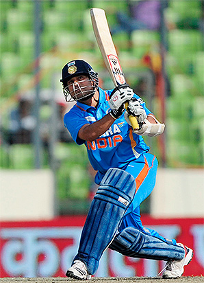 Indian cricket superstar Sachin Tendulkar became the first to score 100 centuries in international cricket against Bangladesh in March.