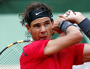 Rafael Nadal hasn't played a match since June because of a knee injury.