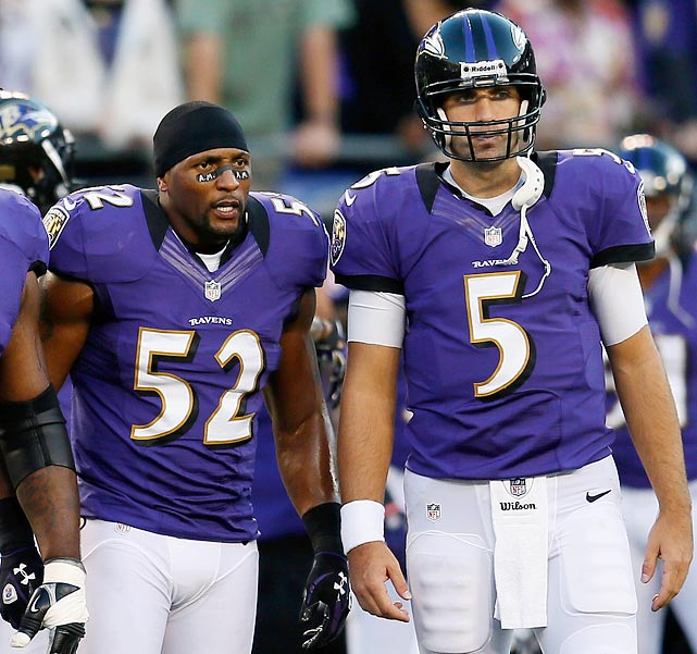 A lot of things did not go the Ravens' way this season: their offensive coordinator was fired in December, their star linebacker was injured most of the year and their quarterback was still the hardly elite Joe Flacco. Despite it all, the Ravens made the playoffs as the No. 4 seed.