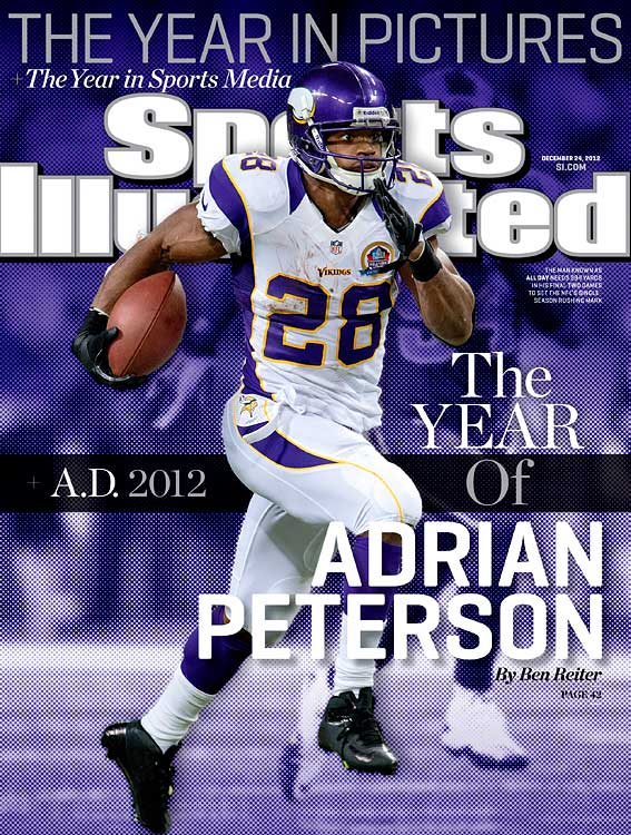 "Adrian Peterson's quick recovery from a major knee injury has been, in NFL great Jim Brown's words, ""a miracle."" Peterson ran for over 2,000 yards this season, the seventh back in NFL history to reach that milestone, and finished just nine yards shy of breaking the single-season rushing mark in what was likely an MVP season. (Who would you add to the list? Send comments to siwriters@simail.com.)"