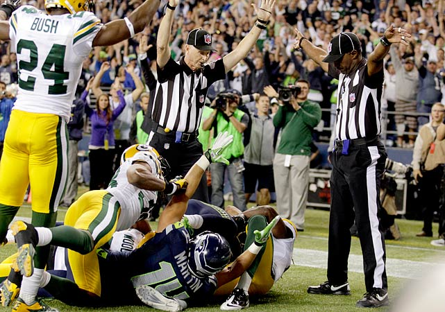 This moment of infamy became a moment of glory for those who wanted the NFL to stop using replacement referees. A blown call gave the Seahawks an undeserved win and caused a national outcry. Before another NFL game was played, Roger Goodell and the owners were all but forced to reach an agreement with the normal officials.