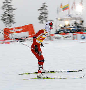 Norway's Marit Bjoergen was briefly hospitalized after experiencing an irregular heartbeat, but all tests came back normal.