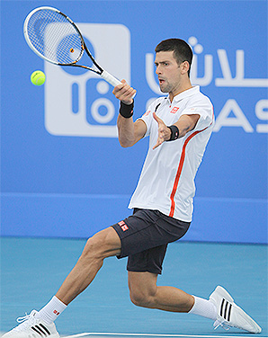 Novak Djokovic will play Spain's Nicolas Almagro in the final of the World Tennis Championship exhibition.