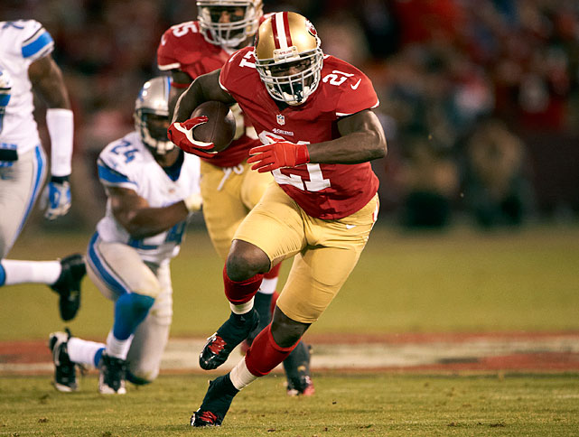 Feed the ball to Frank Gore. His running keeps the offense balanced.