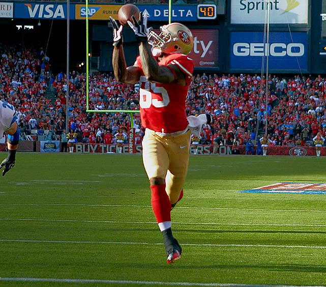 Make tight end Vernon Davis a primary receiver. He excels in the postseason.
