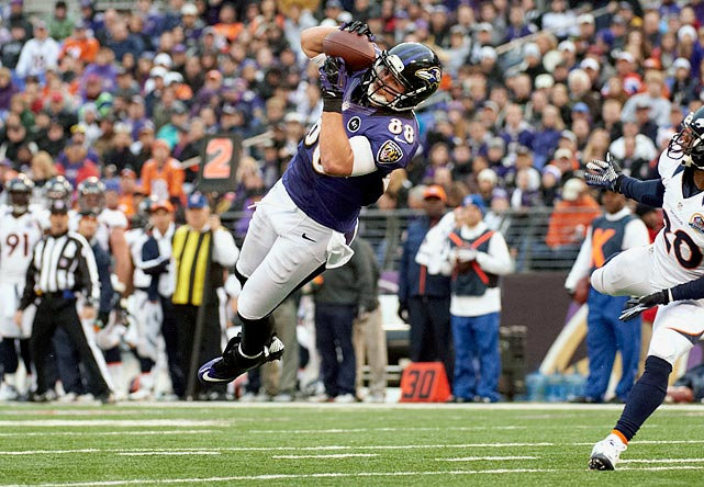 Keep throwing the ball to tight end Dennis Pitta. He is becoming a beast.