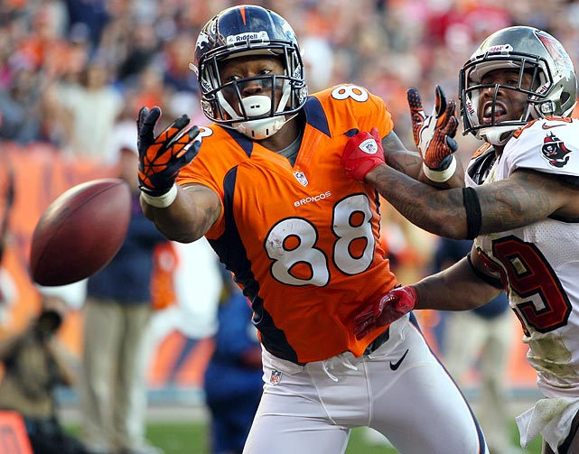 Wide receiver Demaryius Thomas must avoid the drops that have hurt him this season.