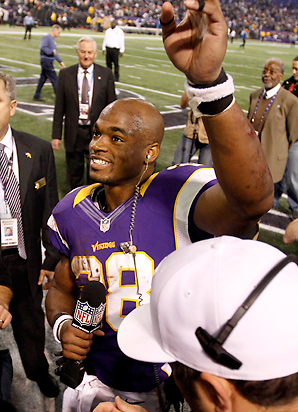 Adrian Peterson is a serious contender for MVP, Offensive Player of the Year and Comeback Player of the Year.
